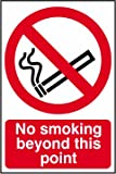 No smoking beyond this point self cling window vinyl 200 x 300mm