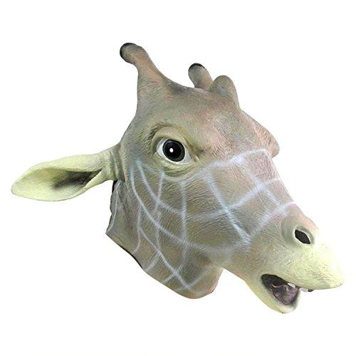 Homestia Deluxe Novelty Halloween Latex Giraffe Mask (Giraffe Deluxe Latex Mask)