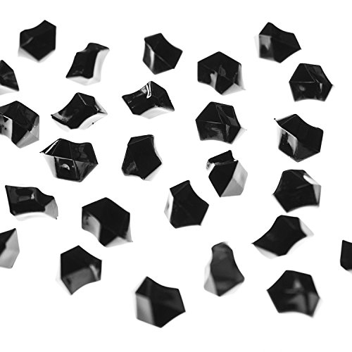 Acrylic Color Ice Rock Crystals Treasure Gems for Table Scatters, Vase Fillers, Event Decorations, Wedding, Birthday Decoration Favor (190 Pieces) by Super Z Outlet® (Black) (Smooth Gem Rocks compare prices)