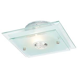 Endon 065-27 Flush Glass Ceiling Bathroom & Dressing Room Light Outside Zone 2 from Endon