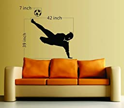 Large--Easy instant decoration wall sticker wall mural Sport boy girl adault room decal SPS276 soccer player