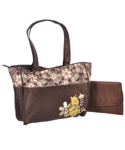 "Winnie the Pooh ""Friendly Flowers"" Large Diaper Bag - brown, one size"