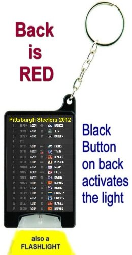 Pittsburgh Steelers 2012 NFL Schedule Flashlight Key Chain with Batteries