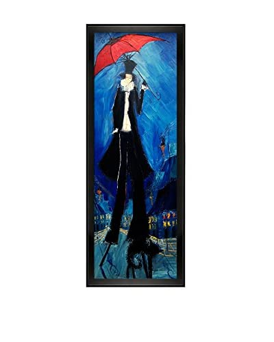 Justyna Kopania Red Umbrella Framed Canvas Print