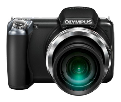 Olympus SP-810UZ Compact Digital Camera - Black (14.0MP, 3.0 inch TFT, 36 x Wide Optical Zoom)