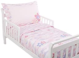 Ababy Floral Toddler Bedding Set, Pink