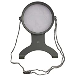 Handsfree Chest Mount Magnifier - 2X and 4X Zoom View Magnifying Lens - Neck Wear Visual Aid