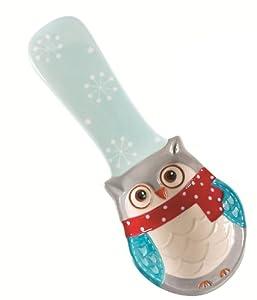 Boston Warehouse Snowy Owls Spoon Rest by Boston Warehouse