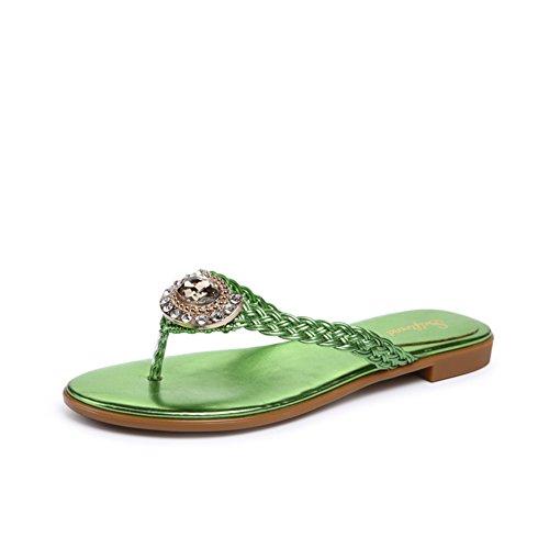 chaussons/Chaussures de fond plat nationales Feng Shui perceuse/flops/Clip sandales à bout et pantoufles