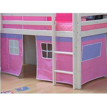 thuka kids vorhang vorh nge f r hochbett spielbett kinderbett stockbett pink dc845. Black Bedroom Furniture Sets. Home Design Ideas