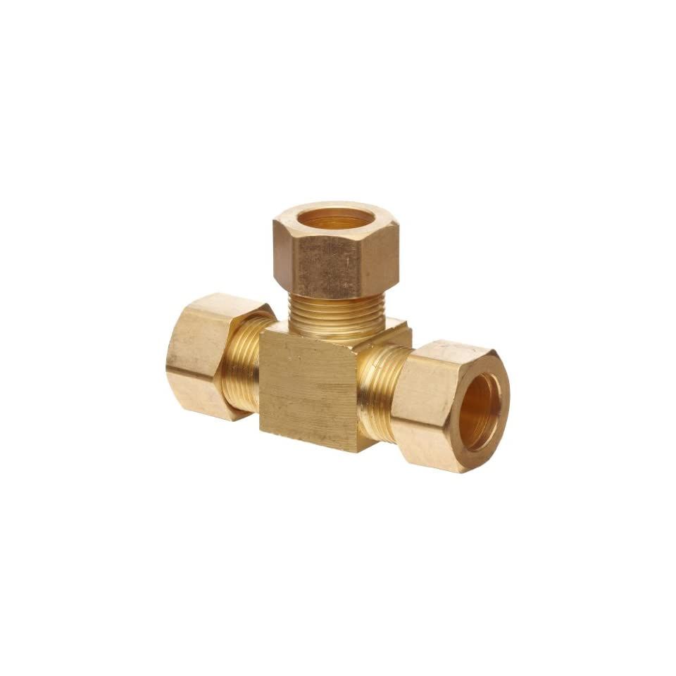 Anderson Metals Brass Tube Fitting, Tee, 5/8 x 5/8 x 5/8 Compression
