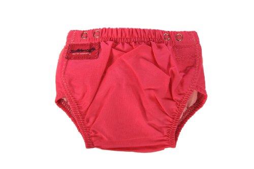 Reusable Swim Diaper, Pink front-3048
