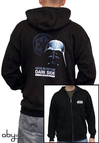 Star Wars Felpa Con Logo E Darth Vader Back Print Ingerenza Borse Nero