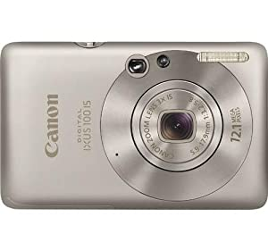 Canon Digital IXUS 100 IS Digital Camera - Silver (12.1 MP, 3.0x Optical Zoom) 2.5 inch LCD