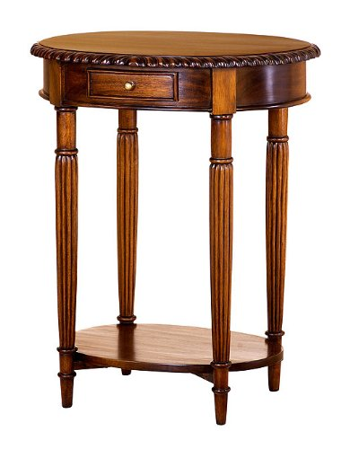 Cheap Chippendale Oval End Table (STO1D)