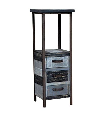 Gallerie Décor Soho Tower Cabinet, Shades of Black