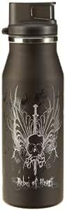 alfi 5367108060 Trinkflasche elementBottle Rebel of heart, Trinkverschluss 0.6 l, schwarz
