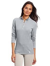 Carhartt Women\'s Force Performance Cotton Quarter-Zip Shirt,Asphalt Heather,Large