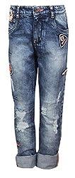 Vitamins Boys' Jeans (01B-624-30-Dx Cloud Wash_Dark Blue_7 - 8 Years)