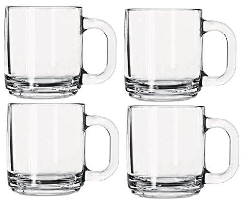 Serve Slow Cooker Spiced Mulled Wine in Libbey Crystal Coffee Mug Warm Beverage Mugs, Set of 4