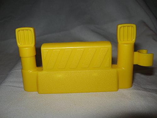 Fisher Price Little People Mechanic Car Wash Garage Construction Demolition Quarry Play Set Replacement Yellow FENCE Piece OOP - 1