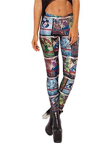 Women'S Fashion Digital Print Batman Robin Pattern Sexy Leggings