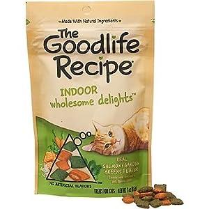 The Goodlife Recipe Salmon and Garden Greens Blend Indoor Cat Treats