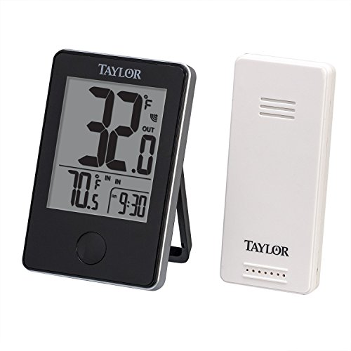 Taylor 1730 Wireless Digital Indoor/Outdoor Thermometer, Black (Taylor Temperature Sensor compare prices)