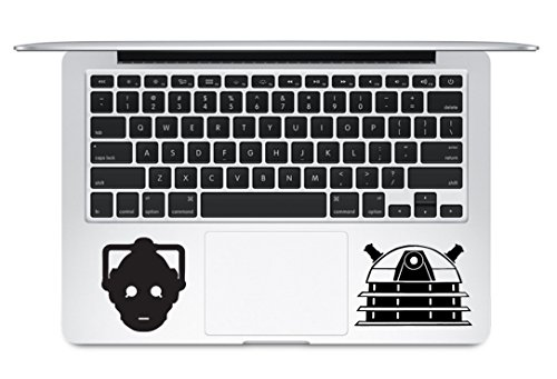 Cyberman Head And Dalek Head Doctor Who Keyboard Trackpad Apple Macbook Laptop Decal Vinyl Sticker Apple Mac Air Pro Sticker