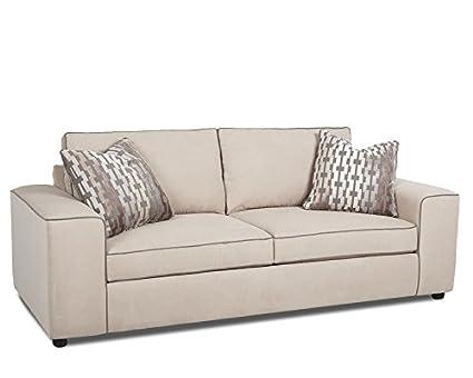 Klaussner Indulgence Sofa, Ecru/Driftwood/Grey