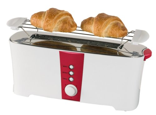 Team Kalorik TO17RF Toaster, 1 langer Schlitz, 900 W, 3 Funktionen, LED