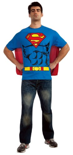 Superman T-Shirt Costume Superman Shirt & Cape Superman Costume 880470