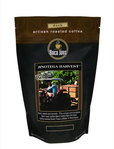 Boca Java Roast To Order, Jinotega Harvest, Ground, Nicaragua Direct Trade Coffee, 8 Oz. Bags (Pack Of 2)