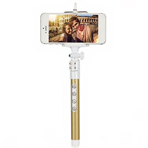 selfie stick ecandy extendable wireless bluetooth monopod selfie stick self portrait video. Black Bedroom Furniture Sets. Home Design Ideas