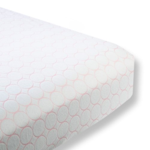 SwaddleDesigns Organic Cotton Flannel Fitted Crib Sheet, Mod Circles, Pastel Pink (Discontinued by Manufacturer)