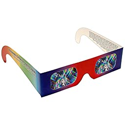 Rainbow Symphony Diffraction Grating Glasses - Educational, Package of 100