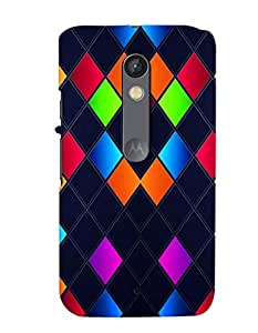PRINTVISA Abstract Art Pattern Case Cover for Motorola Moto X Play
