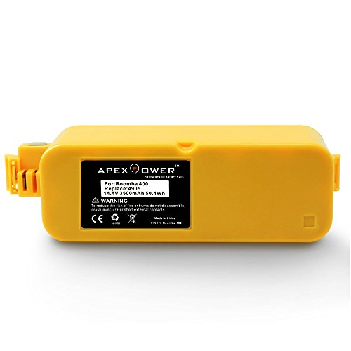 Apexpower 14.4V 3500mAh Higher Capacity Replacement Battery for iRobot Roomba 400 series Roomba 400 405 410 415 416 418 4000 4100 4105 4110 4130 4150 4170 4188 4210 4220 4225 4230 4232 4260 4296 (Roomba Battery 4225 compare prices)