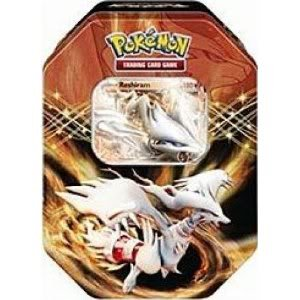 Factory Sealed Packaging Pokemon Black White Card Game Spring 2012 EX Collectors Tin Reshiram Toy / Game / Play / Child / Kid