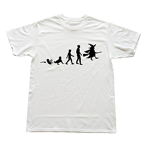 Stabe Men Witch Evolution T-Shirt Causal Swag M White