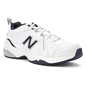 New Balance Men's MX608V4 Training Shoe,White/Navy,10.5 4E US