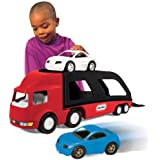 Little Tikes - 484964 - Véhicule Miniature - Modèle Simple - Big Car Carrier - Rouge/noir