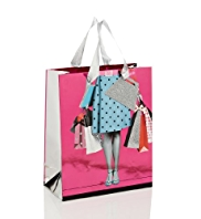 Lady Shopping Bags Medium Gift Bag