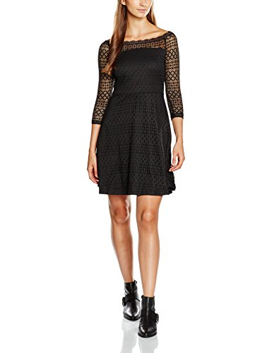 VERO MODA Vmkanel Offshoulder 3/4 Short Dress D2-8, Vestito Donna, Nero (Black), S