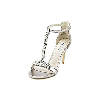 Amazon.com: Steve Madden Shawna Silver Heeled Sandals: Shoes