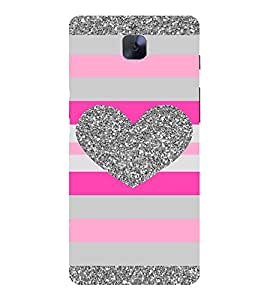 HEART PATTERN Designer Back Case Cover for One Plus Three