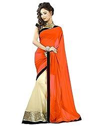Sheesha Women's Georgette Orange Saree
