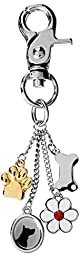 LittleGifts Gold Paw Handbag Charm