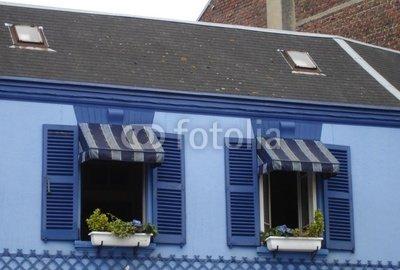 Wallmonkeys Peel and Stick Wall Decals - Blue Shutters - 18