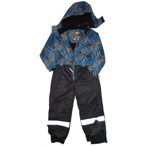 Outburst - functional ski-suit, boys, blue checkered